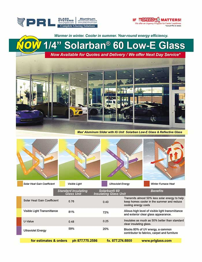 Solarban® 60 Glass that is Warmer in winter, Cooler in summer, Year-round energy efficiency.