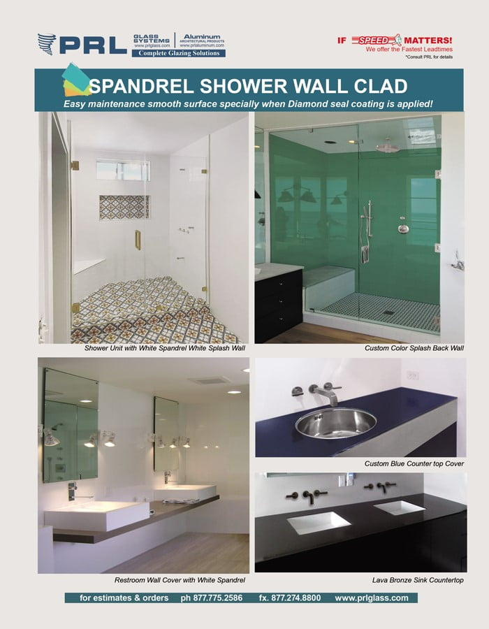 Spandrel Glass Bath Products