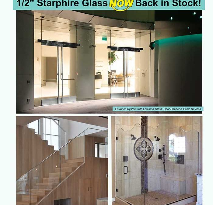 "½"" Starphire Glass NOW Back in Stock!"