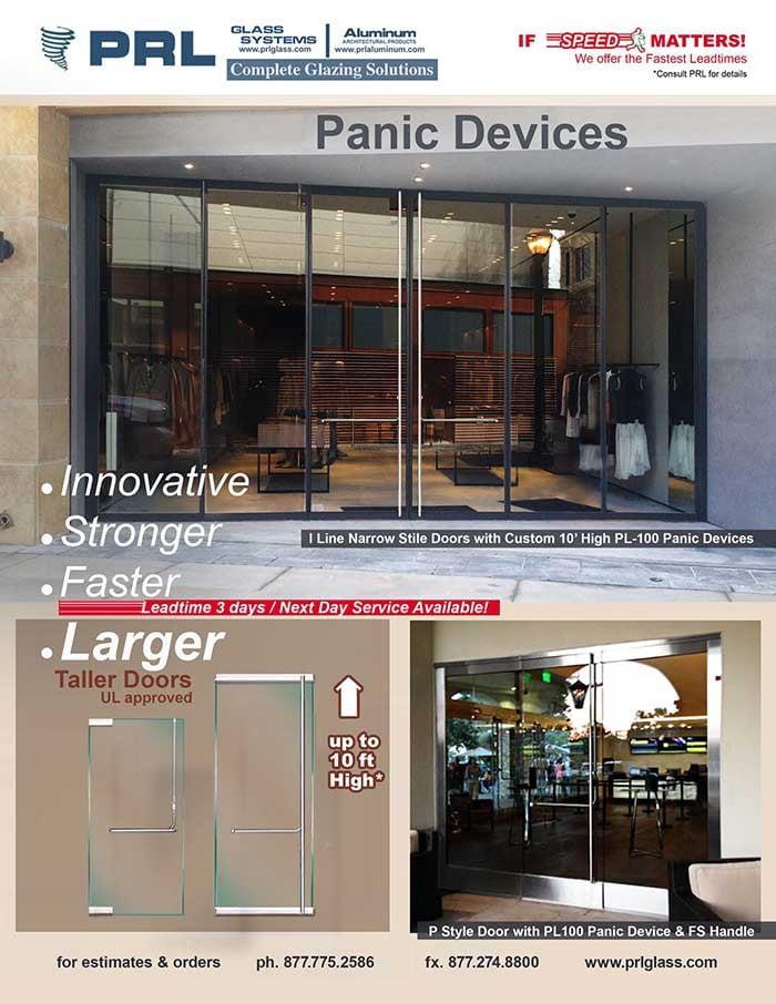 120 inch. Tall Door Panic Device