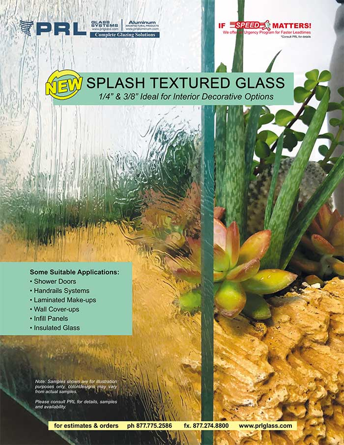 textured splash glass design