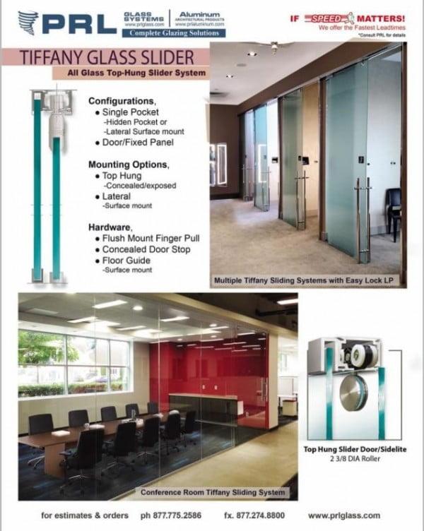 Tiffany All Glass Interior Sliding System
