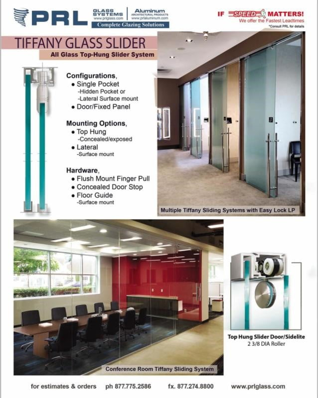 Tiffany All Glass Interior Sliding Door System