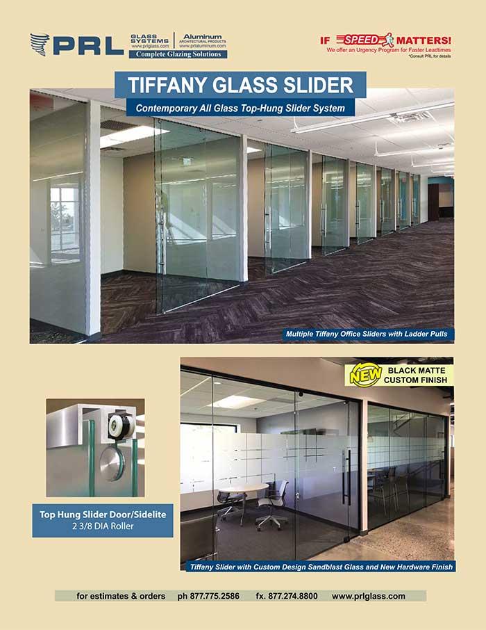tiffany all glass sliding doors