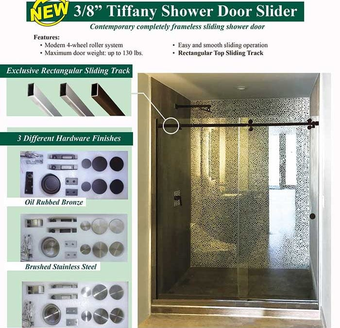 PRL's New Tiffany Shower Door Slider- A Visionary Sliding Shower Door That's Completely Frameless!