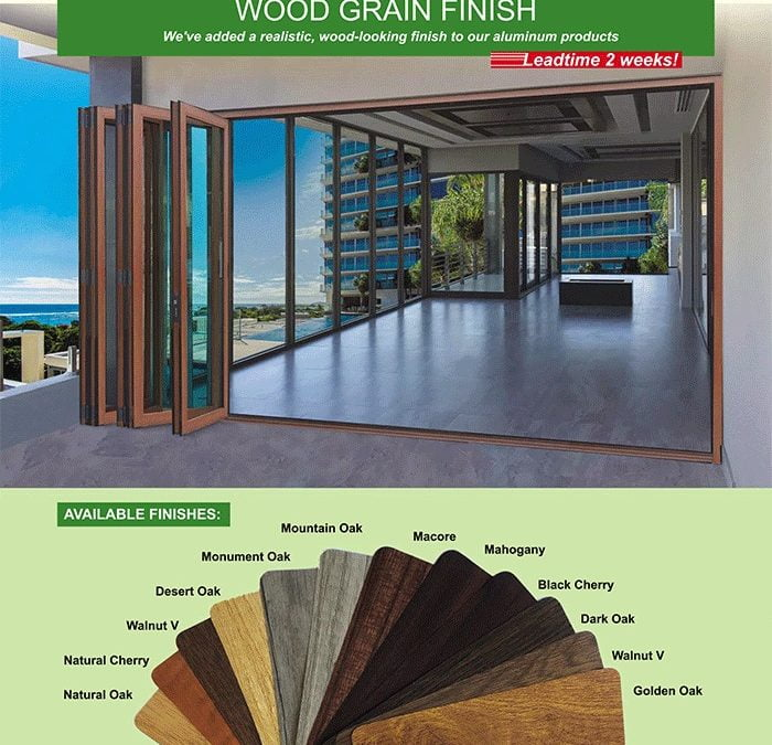 Vinyl Woodgrain Films for Aluminum Products. Experience the Benefits at PRL