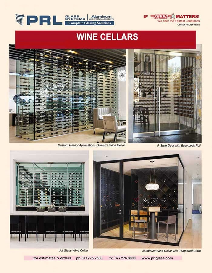 PRL's Custom All-Glass Wine Cellars! Experience the Possibilities with Us!